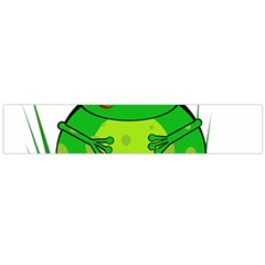 Green Frog Flano Scarf (Large) by Valentinaart