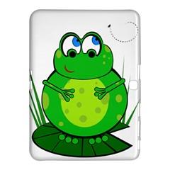 Green Frog Samsung Galaxy Tab 4 (10 1 ) Hardshell Case  by Valentinaart