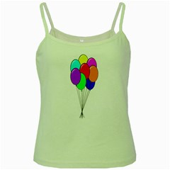 Colorful Balloons Green Spaghetti Tank by Valentinaart