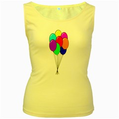 Colorful Balloons Women s Yellow Tank Top by Valentinaart