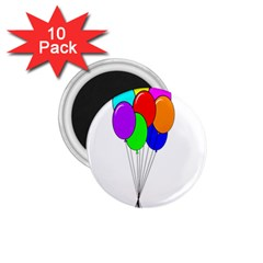 Colorful Balloons 1 75  Magnets (10 Pack)  by Valentinaart