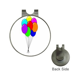 Colorful Balloons Hat Clips With Golf Markers by Valentinaart