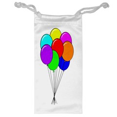 Colorful Balloons Jewelry Bags by Valentinaart