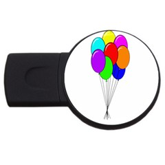 Colorful Balloons Usb Flash Drive Round (4 Gb)  by Valentinaart