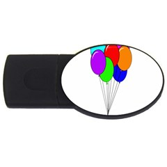 Colorful Balloons Usb Flash Drive Oval (4 Gb)  by Valentinaart