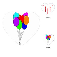 Colorful Balloons Playing Cards (heart)  by Valentinaart