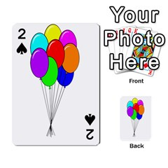 Colorful Balloons Playing Cards 54 Designs  by Valentinaart