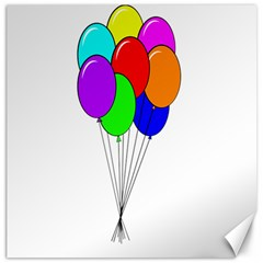 Colorful Balloons Canvas 16  X 16   by Valentinaart