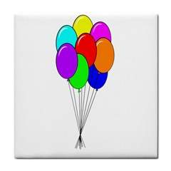 Colorful Balloons Face Towel by Valentinaart