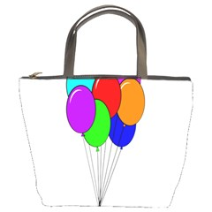Colorful Balloons Bucket Bags by Valentinaart