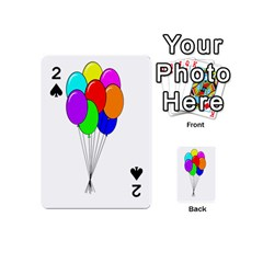 Colorful Balloons Playing Cards 54 (mini)  by Valentinaart