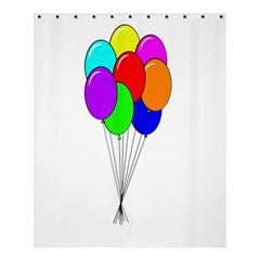 Colorful Balloons Shower Curtain 60  X 72  (medium)  by Valentinaart