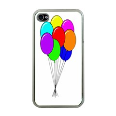 Colorful Balloons Apple Iphone 4 Case (clear) by Valentinaart