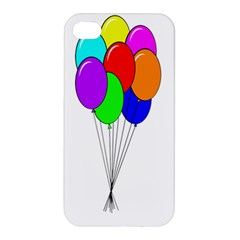 Colorful Balloons Apple Iphone 4/4s Hardshell Case by Valentinaart