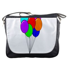 Colorful Balloons Messenger Bags by Valentinaart