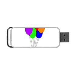 Colorful Balloons Portable Usb Flash (two Sides) by Valentinaart
