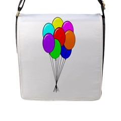 Colorful Balloons Flap Messenger Bag (l)  by Valentinaart