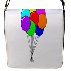 Colorful Balloons Flap Messenger Bag (s) by Valentinaart