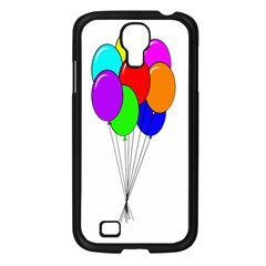 Colorful Balloons Samsung Galaxy S4 I9500/ I9505 Case (black) by Valentinaart
