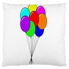 Colorful Balloons Large Flano Cushion Case (two Sides) by Valentinaart