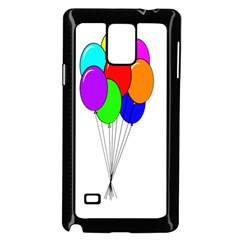 Colorful Balloons Samsung Galaxy Note 4 Case (black) by Valentinaart