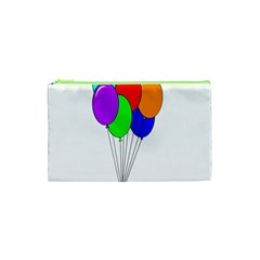 Colorful Balloons Cosmetic Bag (xs) by Valentinaart