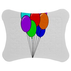 Colorful Balloons Jigsaw Puzzle Photo Stand (bow) by Valentinaart