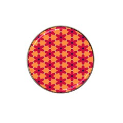 Red Flowers Pattern                                                                            hat Clip Ball Marker by LalyLauraFLM