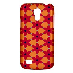 Red Flowers Pattern                                                                            			samsung Galaxy S4 Mini (gt I9190) Hardshell Case by LalyLauraFLM