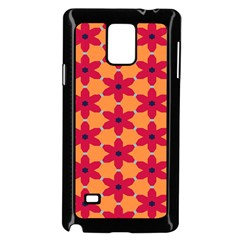 Red Flowers Pattern                                                                            			samsung Galaxy Note 4 Case (black) by LalyLauraFLM