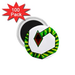 Decorative Snake 1 75  Magnets (100 Pack)  by Valentinaart