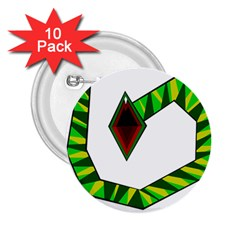 Decorative Snake 2 25  Buttons (10 Pack)  by Valentinaart