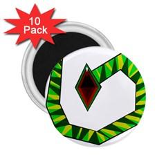 Decorative Snake 2 25  Magnets (10 Pack)