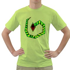 Decorative Snake Green T Shirt by Valentinaart