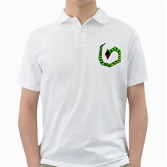 Decorative Snake Golf Shirts by Valentinaart