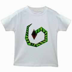 Decorative Snake Kids White T Shirts by Valentinaart