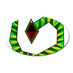 Decorative Snake Oval Magnet by Valentinaart