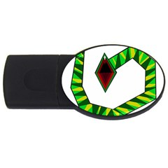 Decorative Snake Usb Flash Drive Oval (2 Gb)  by Valentinaart