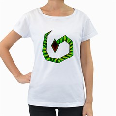 Decorative Snake Women s Loose Fit T Shirt (white) by Valentinaart