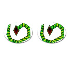 Decorative Snake Cufflinks (oval) by Valentinaart