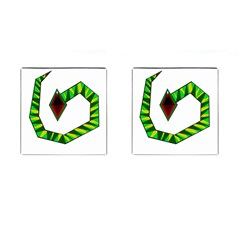 Decorative Snake Cufflinks (square) by Valentinaart