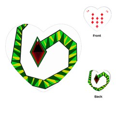 Decorative Snake Playing Cards (heart)  by Valentinaart