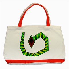 Decorative Snake Classic Tote Bag (red) by Valentinaart