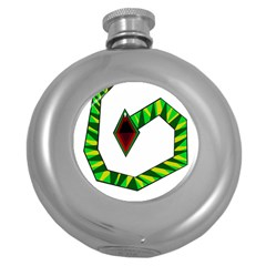 Decorative Snake Round Hip Flask (5 Oz) by Valentinaart