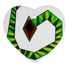 Decorative Snake Heart Ornament (2 Sides) by Valentinaart