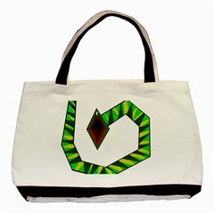 Decorative Snake Basic Tote Bag (two Sides) by Valentinaart