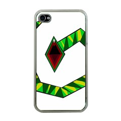 Decorative Snake Apple Iphone 4 Case (clear) by Valentinaart