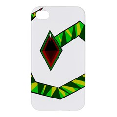 Decorative Snake Apple Iphone 4/4s Premium Hardshell Case by Valentinaart