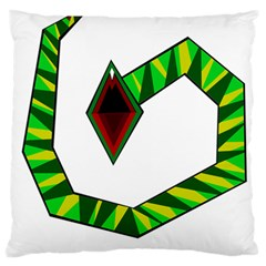Decorative Snake Large Cushion Case (two Sides) by Valentinaart
