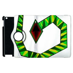 Decorative Snake Apple Ipad 2 Flip 360 Case by Valentinaart